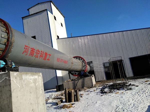 陶粒机械设备的安装现场